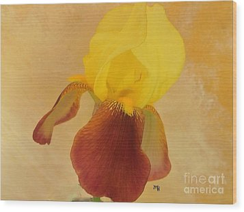 Wood Print featuring the photograph Angel Iris by Marsha Heiken
