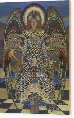 Angel Wood Print by Jane Whiting Chrzanoska
