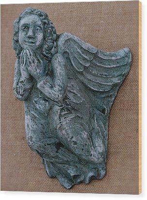 Angel Wood Print by Katia Weyher