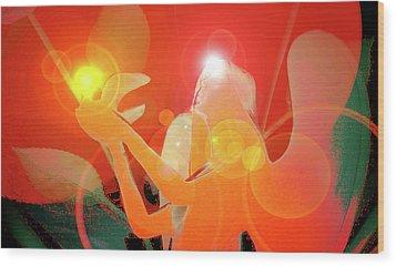Angel-light No. 01 Wood Print by Ramon Labusch