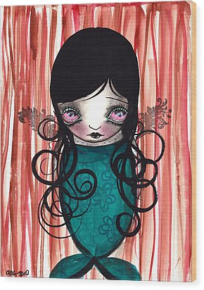 Angel Mermaid Wood Print by  Abril Andrade Griffith