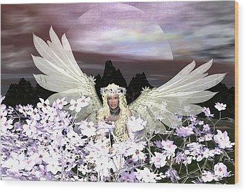 Angel My Guardian Wood Print