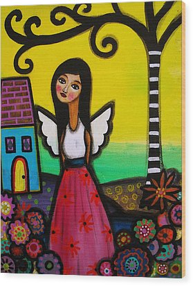 Angel Nilda Wood Print by Pristine Cartera Turkus
