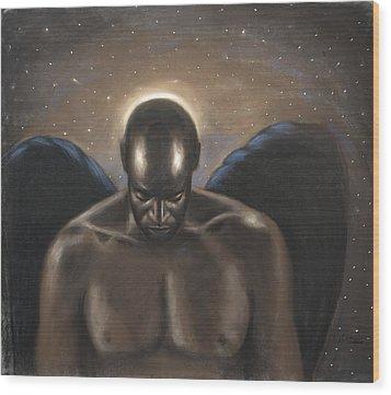 Angel Noir Wood Print by L Cooper