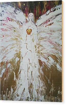 Angel Of Divine Healing Wood Print by Alma Yamazaki