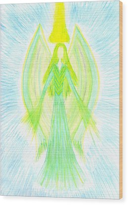 Angel Of Generosity Wood Print by Konstadina Sadoriniou - Adhen