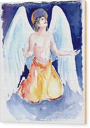 Angel Of Gratitude Wood Print