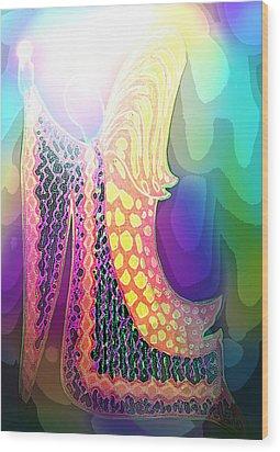 Angel Of Gratitude Wood Print by Mairin Gilmartin