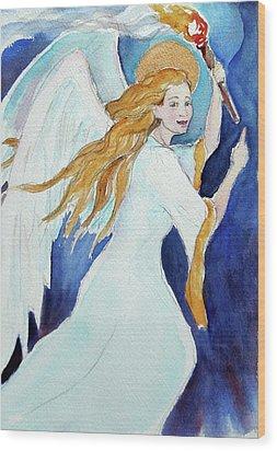 Angel Of Illumination Wood Print