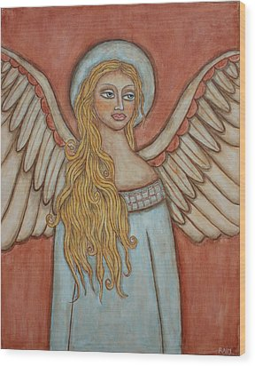 Angel Of Liberation Wood Print by Rain Ririn