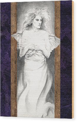 Angel Of Light Wood Print by Ragen Mendenhall