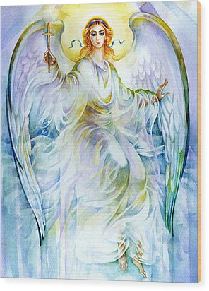 Angel Of Love Wood Print by Karen Showell
