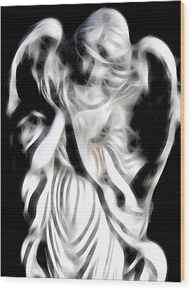 Wood Print featuring the digital art Angel Of Mercy by Holly Ethan