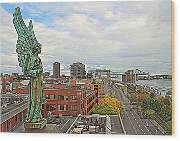 Angel Of Old Montreal Wood Print by Alice Gipson