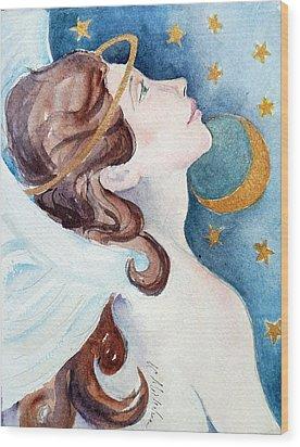 Angel Of Receiving Wood Print