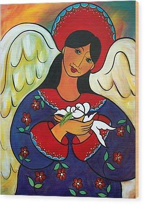Angel Of Renewal Wood Print