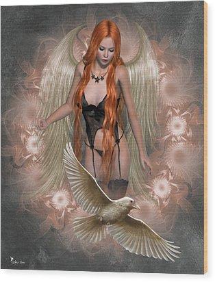 Angel Of The Ravens Wood Print