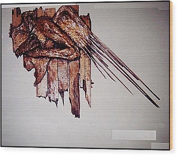 Angel Wood Print by Paulo Zerbato