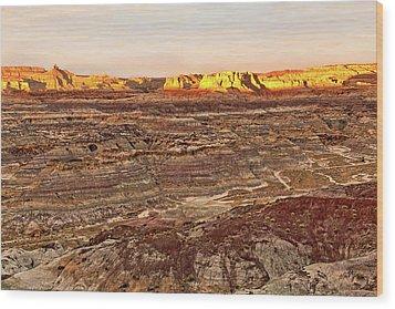 Angel Peak Badlands - New Mexico - Landscape Wood Print by Jason Politte