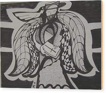 Angel Receiving Prayer Wood Print by Jimmy King