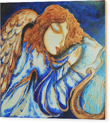 Angel Sleeping Wood Print