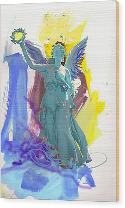 Angel, Victory Is Now Wood Print