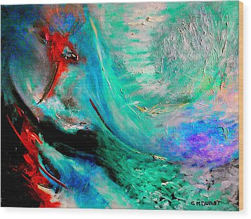 Angel Vortex Wood Print by Michael Durst