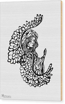 Angel Watching Wood Print by Karen Musick