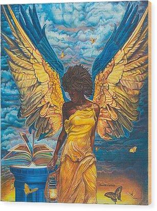 Angelic Guidance Wood Print by Buena Johnson