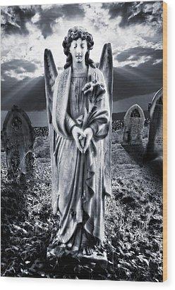 Angelic Light Wood Print by Meirion Matthias