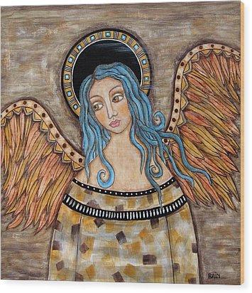 Angelica Wood Print by Rain Ririn
