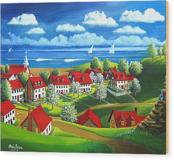 Angelos Dream Wood Print by Chris Boone