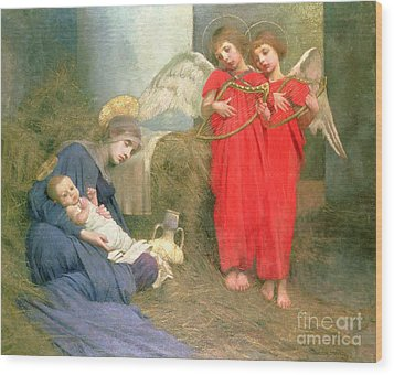 Angels Entertaining The Holy Child Wood Print by Marianne Stokes