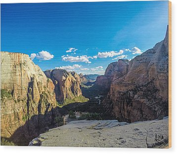 Angels Landing Wood Print
