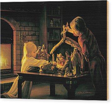 Angels Of Christmas Wood Print