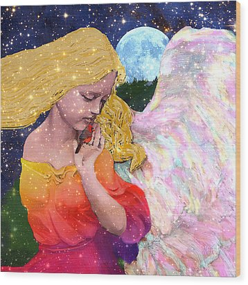 Angels Protect The Innocents Wood Print by Michele Avanti