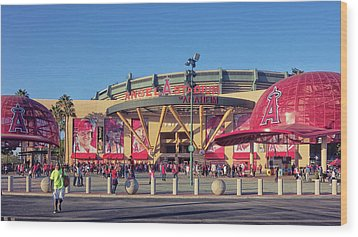 Angels Stadium Wood Print