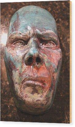 Anger Wood Print by Donovan Hettich