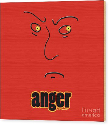 Anger Wood Print by Methune Hively