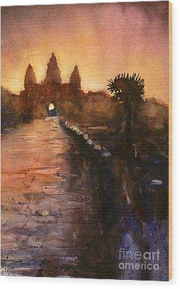 Angkor Wat Sunrise 2 Wood Print by Ryan Fox