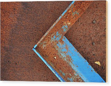 Angle Iron...raw Steel Wood Print by Tom Druin