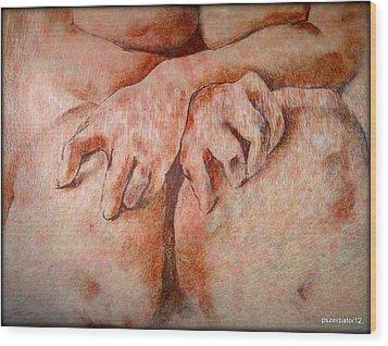 Anguish Wood Print by Paulo Zerbato