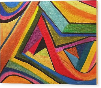 Angular Pull Wood Print by Polly Castor