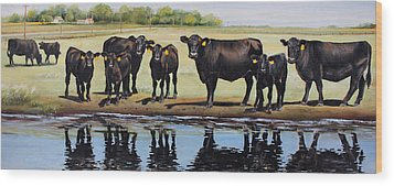 Angus Reflections Wood Print by Toni Grote