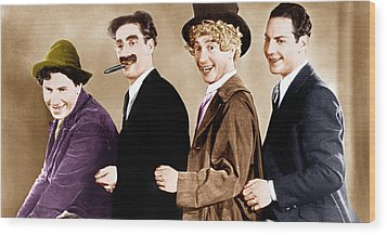 Animal Crackers, From Left Chico Marx Wood Print by Everett