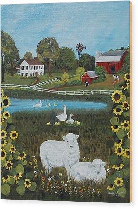 Animal Farm Wood Print