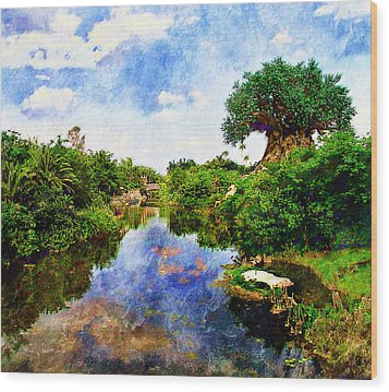 Animal Kingdom Tranquility Wood Print