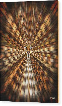 Animal Magnetism Wood Print by Paula Ayers