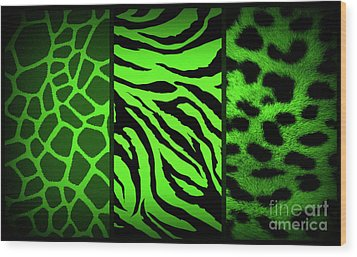 Animal Prints Wood Print