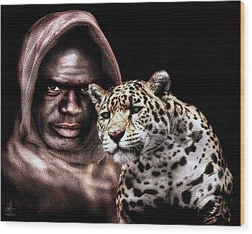 Animal Totem Wood Print by Pennie  McCracken